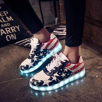 Light up women shoes led casual shoes woman fashion Led shoes for adults plus size led luminous shoes man