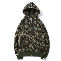 Bape Aape & FILA Fashion New Bust Letter Print And Hat Back Letter Print Hooded Long Sleeve Sweater