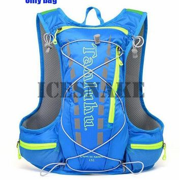 Running bags TANLUHU 15L Running Backpack Trail Racing Hydration Vest Pack Outdoor Camping Hiking Running Water Hydration Backpack Sport Bag KO_3_1