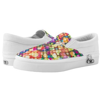 Vivid Colors, Abstract Circle Pattern Slip-on