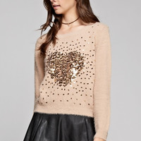 Fall In Love With This Sequins Heart Sweater