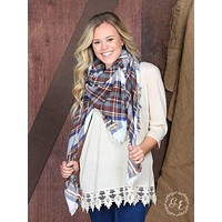 Rustic Woods Plaid Blanket Scarf