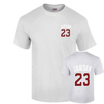 2017 Casual JORDAN 23 Mens T-shirt Year Of Birth Vampire Diaries Mystic Falls Tops Gra
