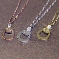 GUCCI Newest Trending Women Men Stylish Necklace Accessories Jewelry