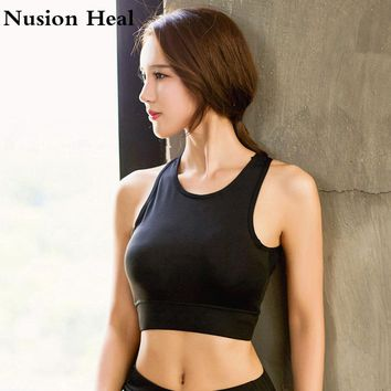 Yoga Shirt Tops Women Gym Sports Fitness Women Running Sports Bra Yoga Gym Top Vest Shockproof Workout Bra for Women Activewear