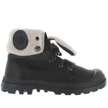Palladium Pallabrouse Baggy - Watertproof Black Leather Fur-Lined Boot