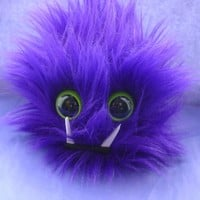MONSTER BARF PLUSHIE with Barf Bag monster hairball barf Dark Purple