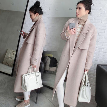 5th Avenue Collection Beautifully All Business Wool Maternity Coat