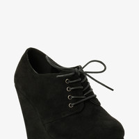 Lace Up Bootie Wedges (Wide Width)