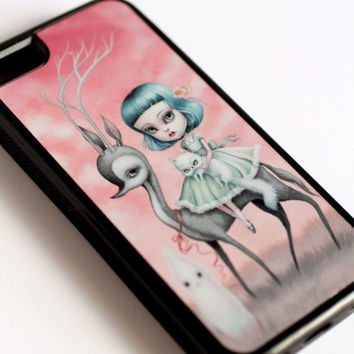 The Forest Is Gone - iPhone 5C cell phone case cover - by Mab Graves
