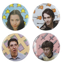 Freaks & Geeks Button Set