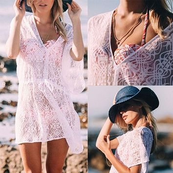 Lace Caftan Coverup