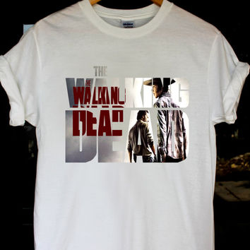 the walking dead shirt the walking dead t shirt movie t shirt the walking dead tshirt size S,M,L,XL,XXL