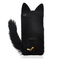 Fluffy Cat With Tail Case For IPhon.. on Luulla