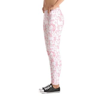Pink Unicorn Pattern Leggings