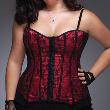 Plus Size Lace and Satin Corset