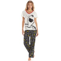 Peanuts Pajamas: Snoopy Tee & Pants Pajama Set