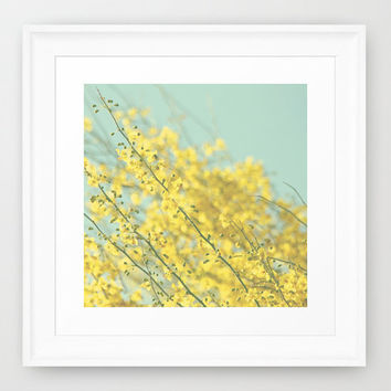 Nursery Photo Print - Floral Photography - Blue and Yellow photo - Blooming flowers - Tree photograph - Pastel Colors - Cottage Chic decor