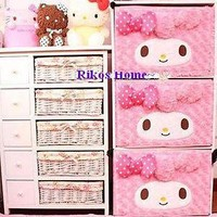 2013 New Unique My Melody Storage Box 1pc Plush 39*26*28CM RARE