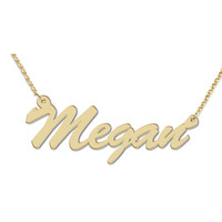 Script Name Necklace in Sterling Silver with 18K Gold Plate (12 Characters)