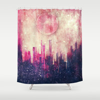 Mysterious city Shower Curtain by SensualPatterns