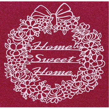 Home Sweet Home Papercut - Available in the colours of your choice.