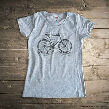 Bicycle T-shirt-cycling shirt-bike shirt-bicycle tee-bicycle tank top-bike tee-gift for cyclists-Men's Bicycle Shirt-by NATURA PICTA-NPTS145