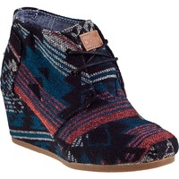Toms Shoes Desert Wedge (Black Jacquard) Shoes Womens Shoes at 7TWENTY Boardshop, Inc
