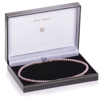 Pink Cultured River Pearl Necklace (37cm)