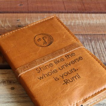 The InBlue Leather Journal with Rumi Quote