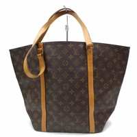 Authentic Louis Vuitton Shoulder Bag SacShopping M51108 Browns Monogram 28477