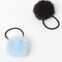 LA Hearts Faux Fur Pom-Pom Hair Tie Set at PacSun.com
