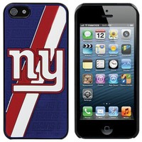 New York Giants Oversize Logo iPhone 5 Hard Case - Royal Blue/Red