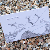 Never Too Far Away Card (detailed Doodles Range)