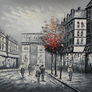 Paris Street Art Oil Painting