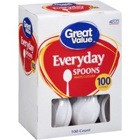 Great Value Everyday Spoons, 100 ct - Walmart.com