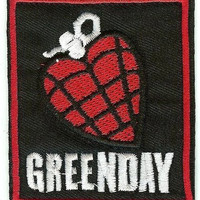 Green Day Iron-On Patch Heart Grenade Logo