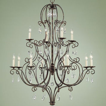 Murray Feiss Chateau 12 Light Mocha Bronze Chandelier - F1938/8+4MBZ