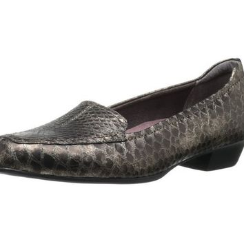 Clarks Timeless Slip-On Leather Shoes Bronze