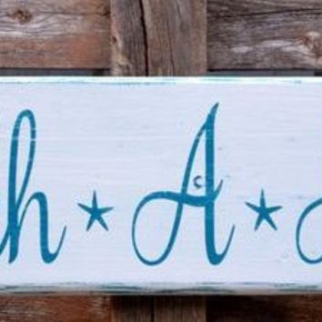 Beachaholic Beach House Decor Love Quote Wood Sign Handmade