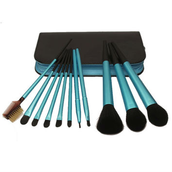 11-pcs Zippers Chain Luxury Make-up Brush Set = 4831004740