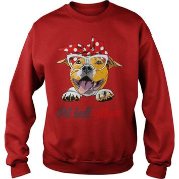 Bandana Pitbull mom  Sweat Shirt
