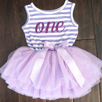 Princess Dress Girl 2017 New Brand Baby Girls Striped Vest Dresses Lace Tutu Kids Clothes For 1 Year Birthday Party Wear Toddler