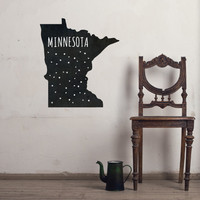 Minnesota Chalkboard State wall decal
