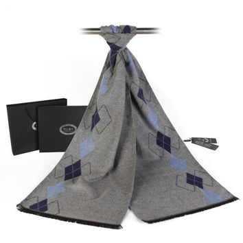 Men's Business Fashion Plaid Tasseled Pashmina Scarf
