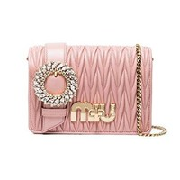 Miu Miu Women's 5BF068N88F0615 Pink Leather Shoulder Bag