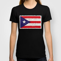 Puerto Rican flag T-shirt by Bruce Stanfield | Society6
