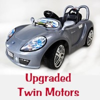 Kids Ride on Remote Control Wheels Electric Power Austin Martin Healy 2 Motors Car.(color Sent At Random- RED or Yellow)