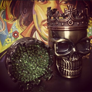 Herb Metal Crown King Skull Grinder - Custom Weed Grinder