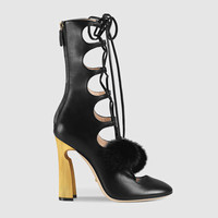 Gucci Leather lace-up boot